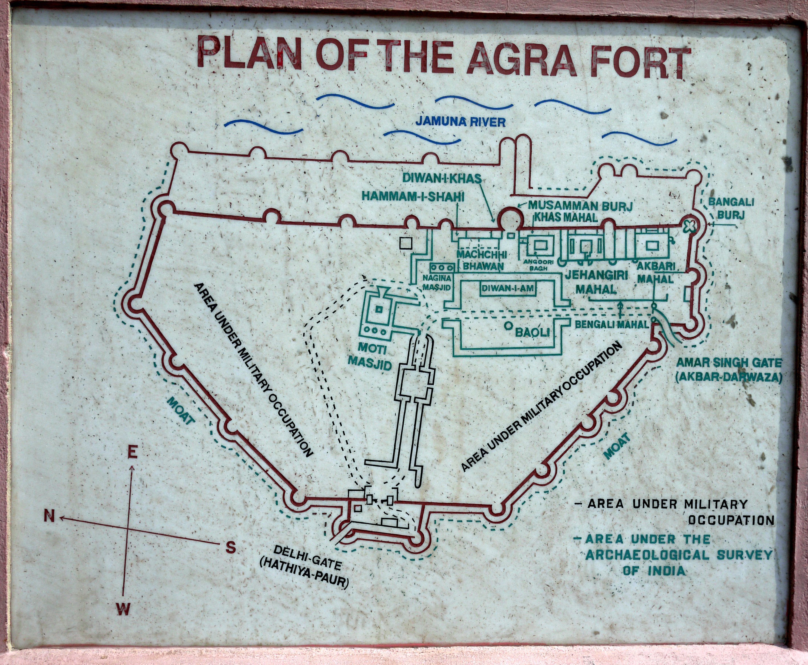 Plan of Agra fort 095