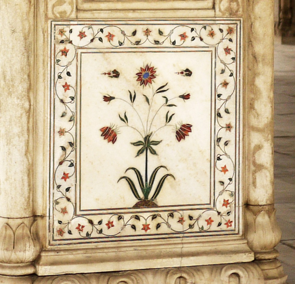 Red fort marble inlay AS 038
